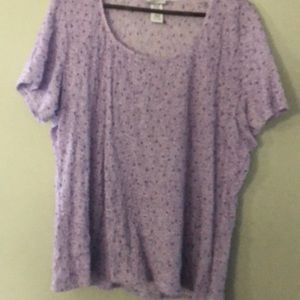 Jaclyn Smith blouse 2X. Lilac
